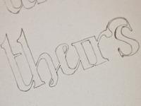Thursday ligature based glyph sketch