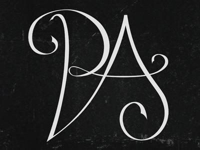 Logo design lettering PA lettering calligraphy logo branding personal type