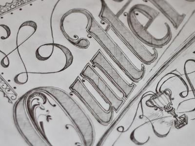 'Quitters Don't Win' Quote Lettering type typography lettering quote pencil sketch uwe quotes vintage hand rendered