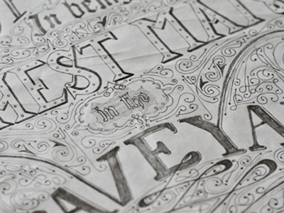 'Richest Man In the Graveyard' Quote lettering lettering type typography pencil sketch quote poster quotes uwe vintage ornament hand rendered custom