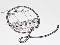 Nautical themed 'Q' drop cap sketch