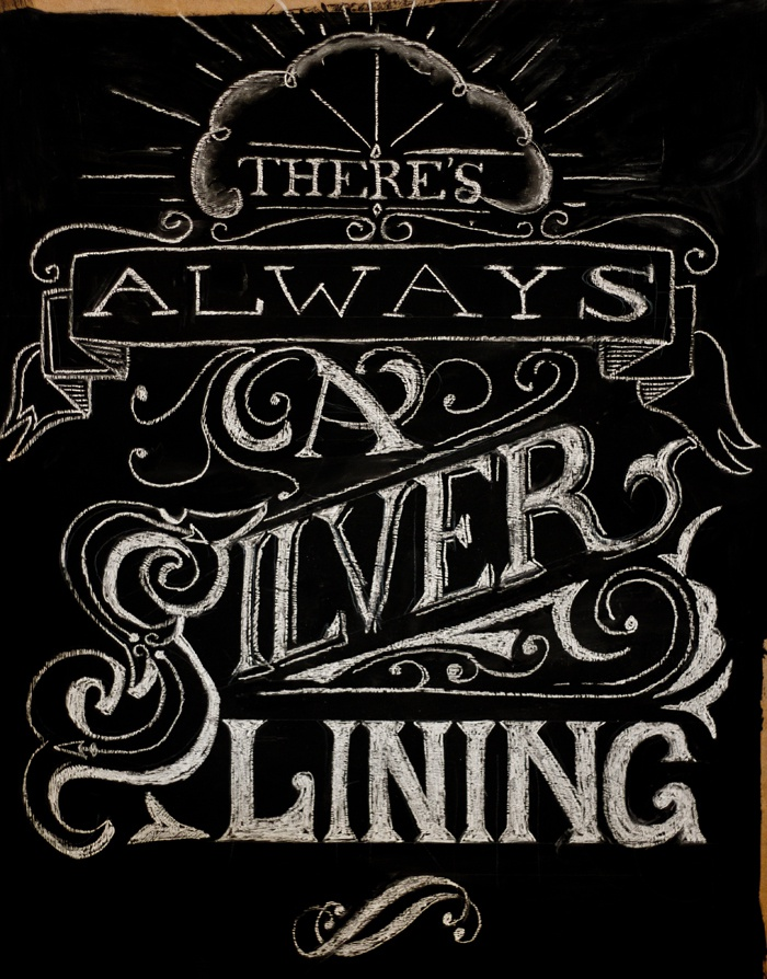 Dribbble Chalk Lettering Silver Lining Fullg By Pete Adams