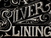 Chalk Lettering Silver Lining Quote