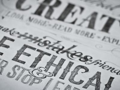 Hand Rendered Design Manifesto hand-rendered design manifesto type typography custom lettering vintage quote poster sketch