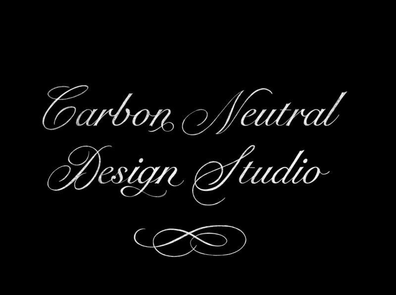Carbon Neutral Design Studio Lettering ornate procreate calligraphy design pencil vintage typography sketch type lettering