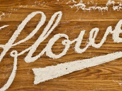 Flour script typography script type typography lettering handmade handtype flour flower playful craft experimentation design art