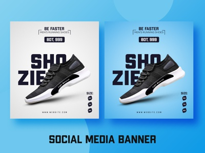 Shoes Social Media Ads Banner Template Design banner inspiration social media banner facebook ad illustration ecommerce branding banner art advertising adobe photoshop abstract 2d illustrator minimal web design shoes banner psd