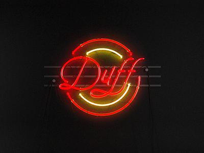 Duff illumination global cinema4d render vray dark brand branding neon pizza duff
