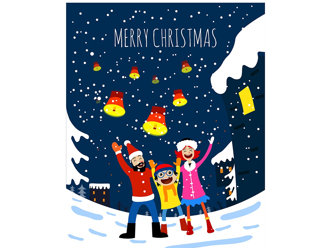 Merry Christmas Family.Merry Christmas Family Illustration By Volkan Akmese On Dribbble