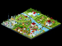 isometric city map illustration.