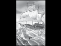 galleon & whale
