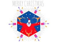 merry christmas flat design vectoral illustration