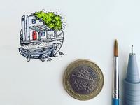 mini watercolor illustration