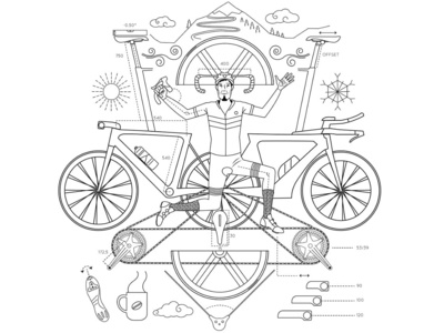 road cyclist brand illustration. vectoral art.