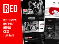 RED - One Page HTML5 Website Template