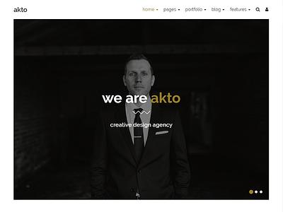 Akto - Multipurpose Website Template themetorium theme template responsive portfolio multipurpose multi page website html5 css3 bootstrap
