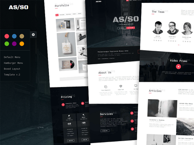 Asso - One Page HTML5 Website Template themetorium template responsive parallax website one page html5 fullscreen css3 creative bootstrap
