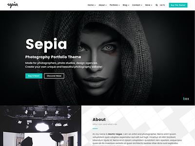 Sepia - Photography Portfolio HTML Website Template website template themetorium responsive portfolio photography photographer photo albums photo html5 gallery css3 blog