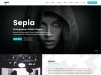 Sepia - Photography Portfolio HTML Website Template