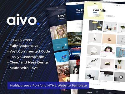 Aivo - Multipurpose Portfolio HTML Website Template website themetorium theme template responsive portfolio html freelancer css creative commented code