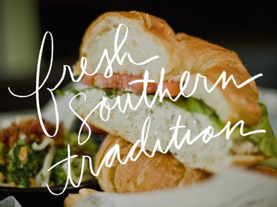 Fresh branding restaurant sandwich hand-drawn type handwritten fresh