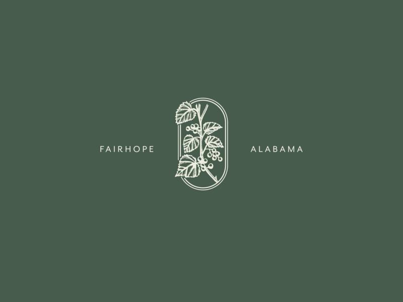 Urban Farm elegant alabama plant urban farm wine vine engraving brand logo