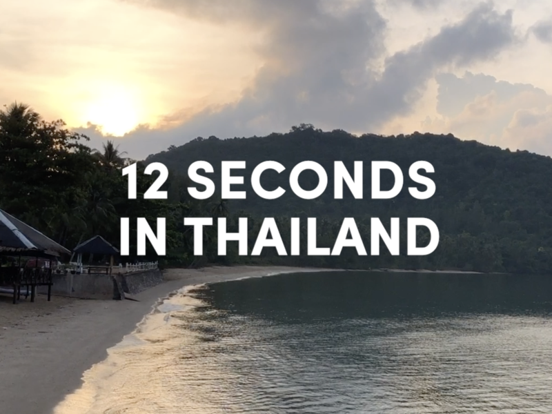 12 Seconds in Thailand beach scenery beauty video travel thailand