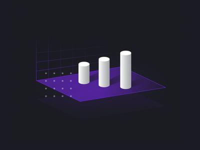 IoT gradient purple metrics graph data illustration iot