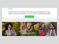 Leash Anchor landing page