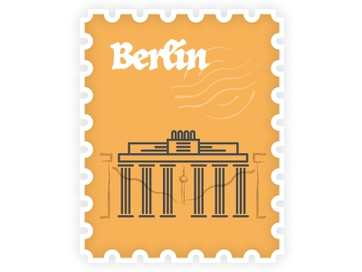 Berlin Stamp travel stamp germany berlin