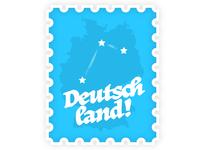 Deutschland Stamp Map