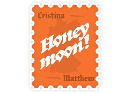 Honeymoon Stamp europe illustrator illustration deutsch stamp travel deutschland germany