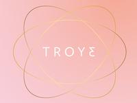"""Troye logo (troje = """"three of a kind"""" in Czech)"""