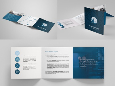 LK Networks & IT-Solutions corporate design trifold leaflet branding