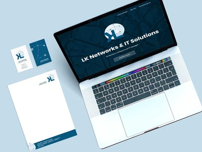LK Networks & IT-Solutions stationery design corporate design business cards web design branding