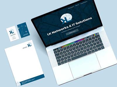 LK Networks & IT-Solutions stationery design corporate design business cards web design branding