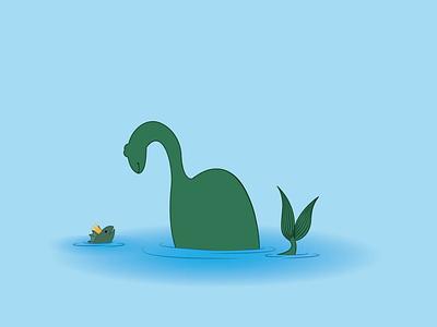 Plesiosauria vector minimal illustration design