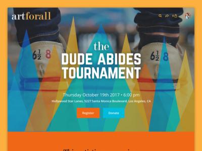Classy Events - Bowling Tournament big lebowski nonprofit event campaign fundraising registration bowling