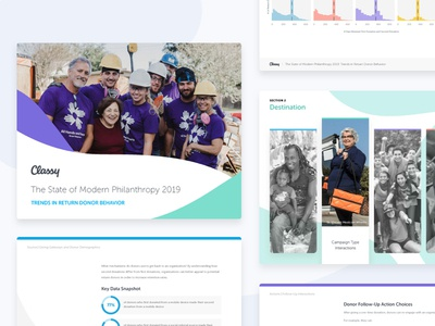 State of Modern Philanthropy data nonprofit marketing collateral visual design design for good philanthropy report design