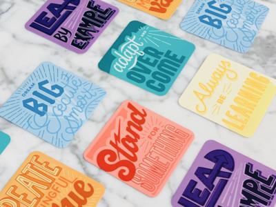 Core Value Cards core values classy design for good illustration social impact design lettering