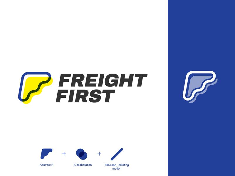 Freight First adobe ilustrator identity design logo vector branding