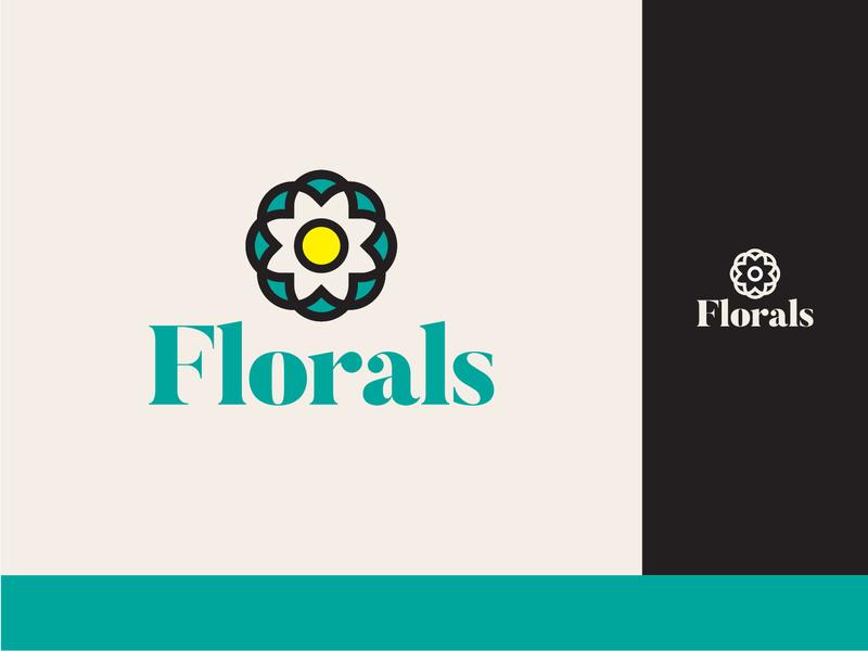 Florals Logo Design lettering type minimal illustration adobe illustrator typography logos logo design colour palette icon branding design identity design concept identity branding flat design vector logo