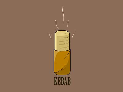 Kebab design app icon logo advertisment meal food restaurant kebab vector illustration