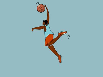 Basketman basketball basket sport vector illustration