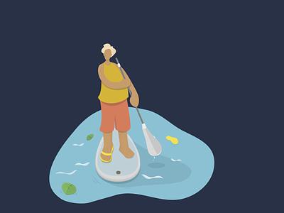 SUPserfing swimming water supserfing serfing sup sport logo design vector illustration