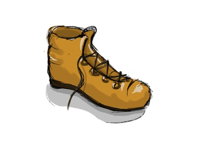 The boot sport design things shoes wear illustration