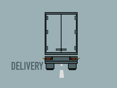 Delivery truck delivery transport vehicle long vehicle truck lorry logo design vector illustration