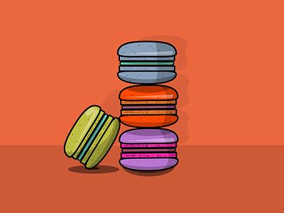Macaroons sweet candy cookies macaroons food vector design illustration