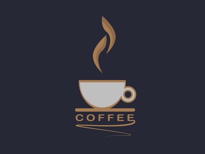 Coffee logo branding graphic design restaurant food vector design illustration
