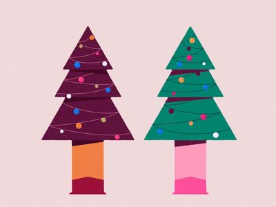 Huggy Christmas duik bassel duik illustration motion graphics 2d christmas tree tree christmas rigging character characteranimation after effects motion design animation
